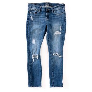 LUCKY BRAND Women's Lolita Ripped Mid Rise Jeans 6